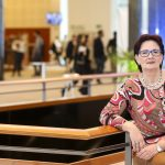 Birgit im Brüsseler Gebäude des Europäischen Parlaments – Mai 2017