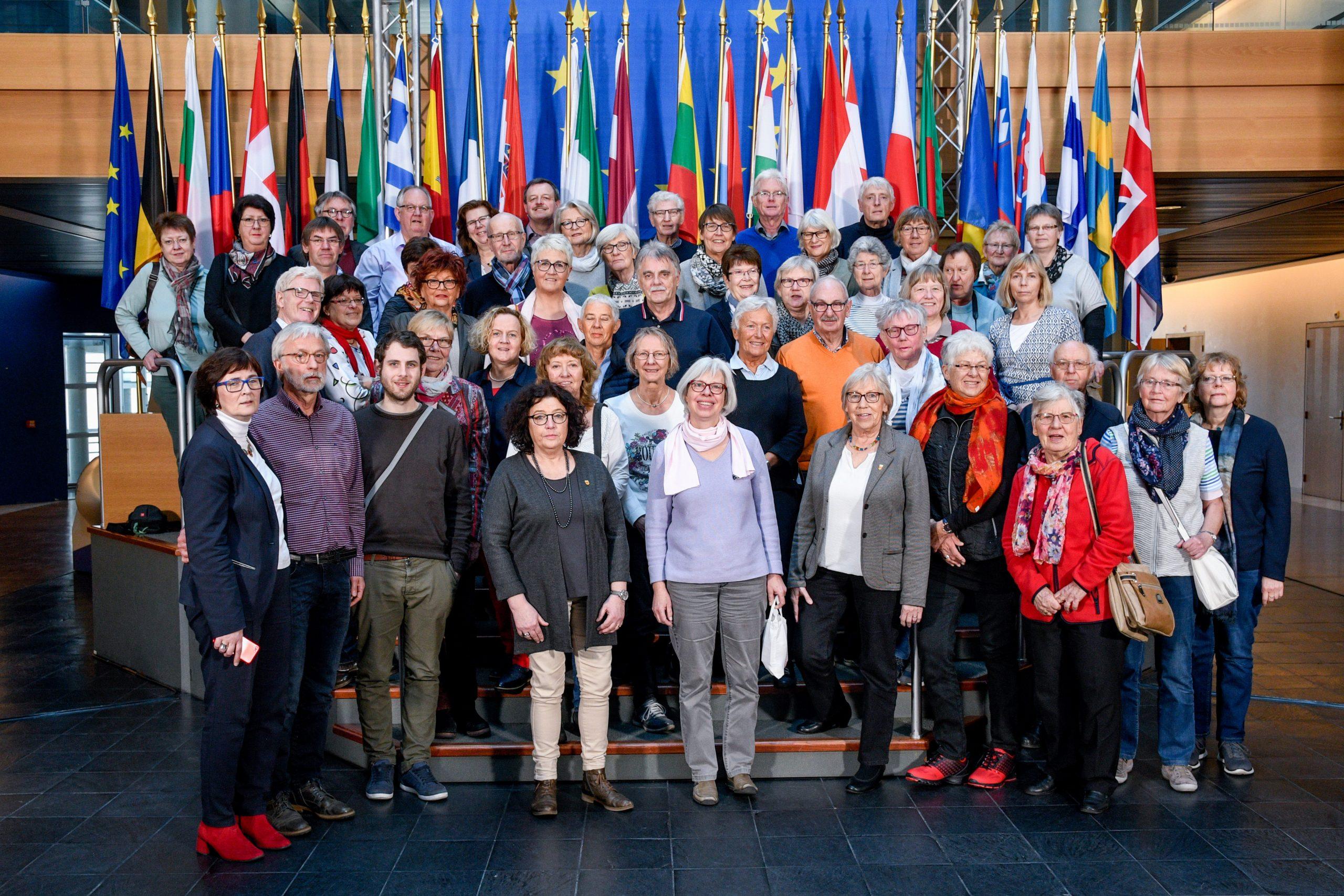 Besuchergruppe aus Westfalen im Europäischen Parlament in Straßburg