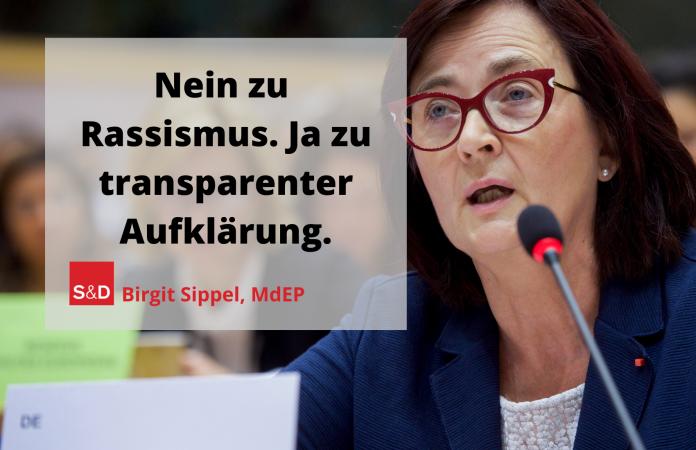Nein zu Rassismus. Ja zu transparenter Aufklärung. Bild bearbeitet, Original: European Union 2019