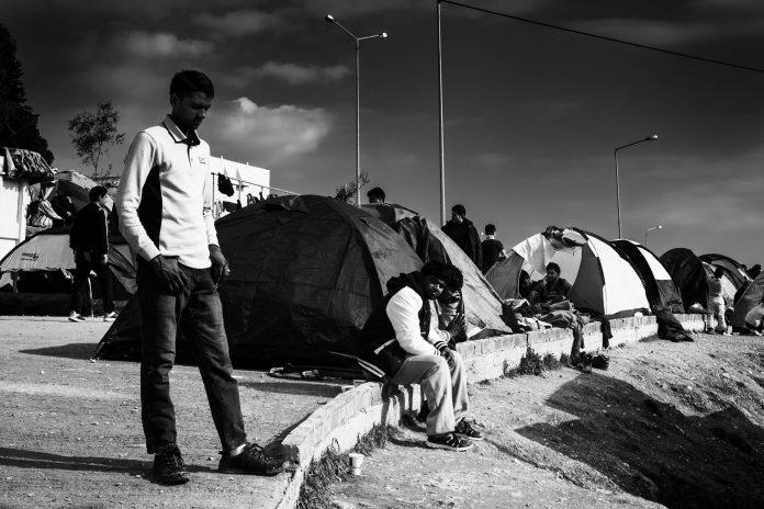 Moria, Lesbos 2016. Bild: Martin Leveneur